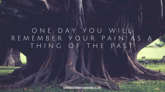 One Day You Will Remember Your Pain As A Thing Of ThePast