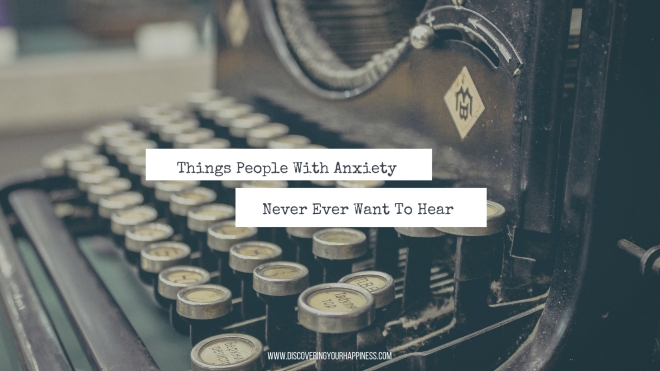 Things People With Anxiety